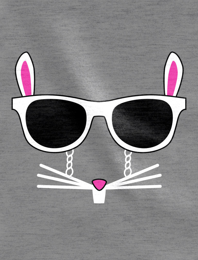 Easter Bunny - Cool Glasses Rabbit Face Youth Kids Sweatshirt