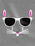 Easter Bunny - Cool Glasses Rabbit Face T-Shirt