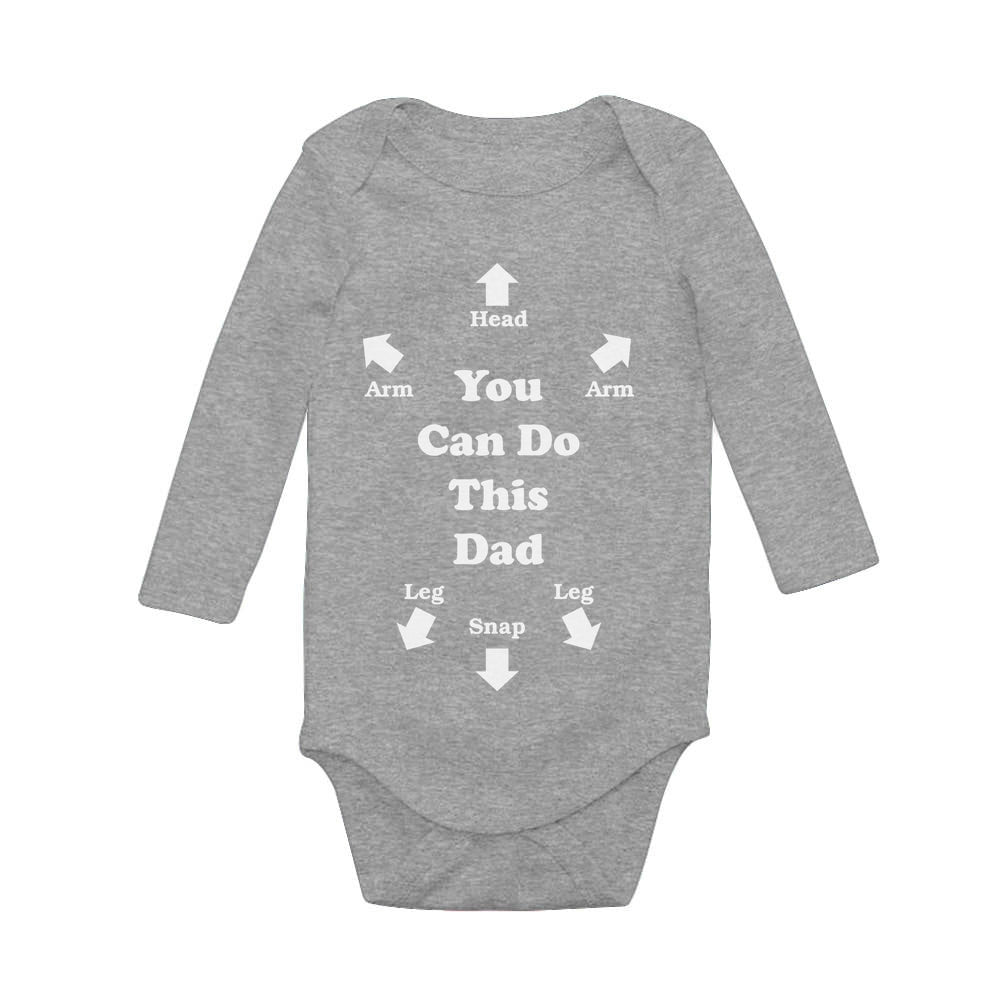 Funny You Can Do This Dad Baby Long Sleeve Bodysuit