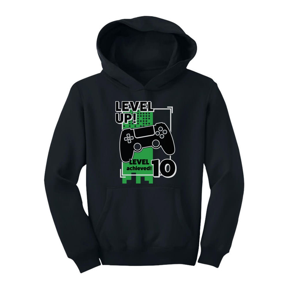 Gamer Birthday Level Up Video Game 10th Birthday Youth Hoodie