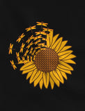 Sunflower Top for Women Girls Graphic Tee Dragonfly Summer Racerback Tank Top