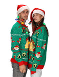 Taco Ugly Christmas Sweater for Men and Women Funny Taco Santa Xmas Sweater
