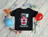 4 Year Old Girl 4th Birthday Funny Cupcake Toddler T-Shirt