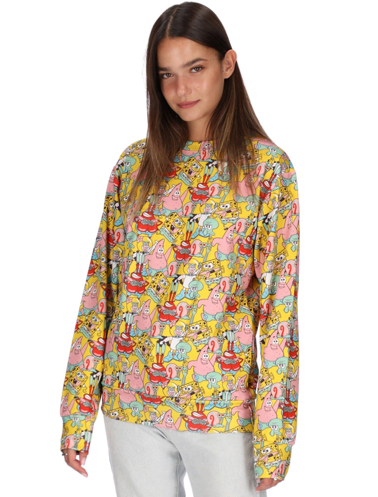 3D Sweatshirt for Men Women SpongeBob SquarePants Pullover Graphic Sweatshirt