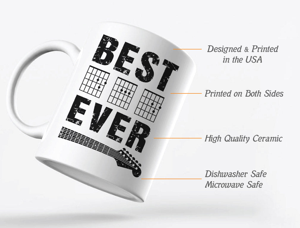 Guitarist Father Best Dad Ever Chord Gifts Mug