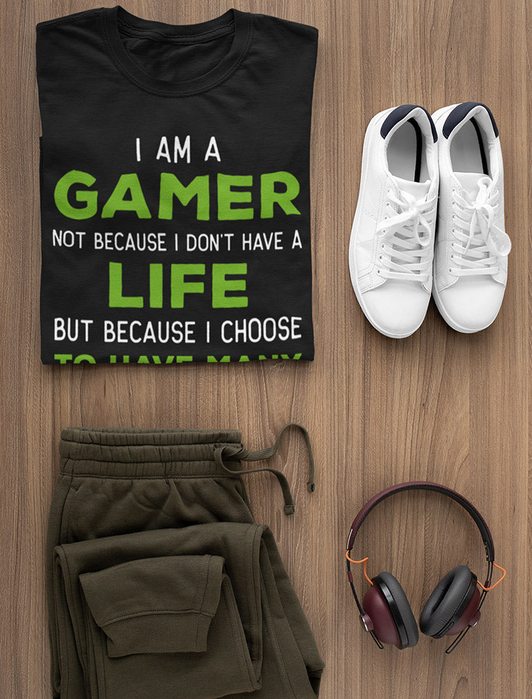 I Am a Gamer Shirt Funny Gamer Gift Cool Gaming Youth Long Sleeve T-Shirt