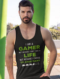 I Am a Gamer Tank Top Funny Gamer Gift Cool Gaming Men's Tank Top