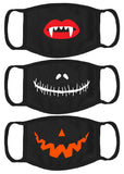Cloth Face Mask Set of 3 for Halloween Washable Cosplay Scary Face Mask Reusable