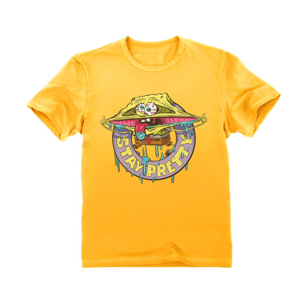 Nickelodeon Spongebob Squarepants Shirt Stay Pretty Funny Party Youth Kids T-Shirt