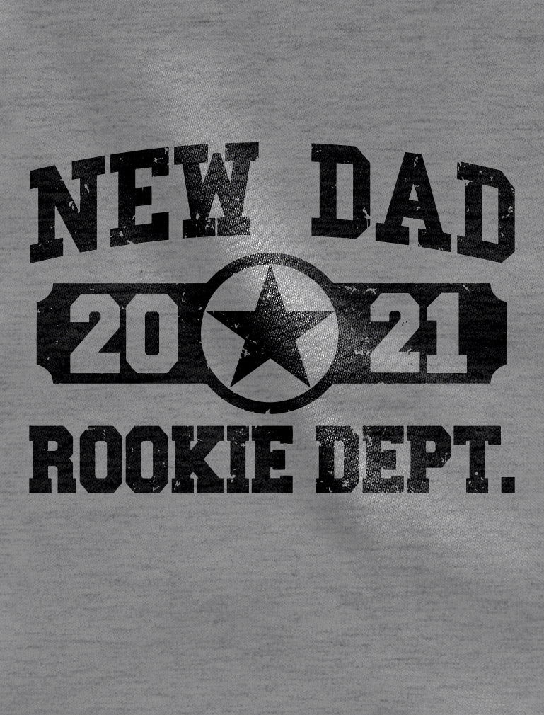New Dad 2021 Rookie Department New Father Gifts 3/4 Sleeve Baseball Jersey Shirt