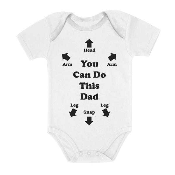 Tstars tshirts You Can Do This Dad Baby Bodysuit