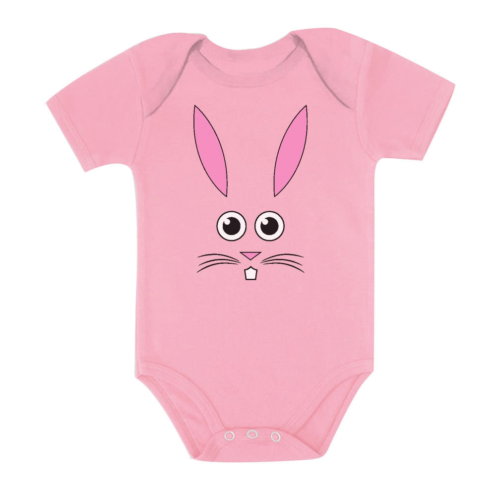 Cute Little Easter Bunny Face Baby Bodysuit