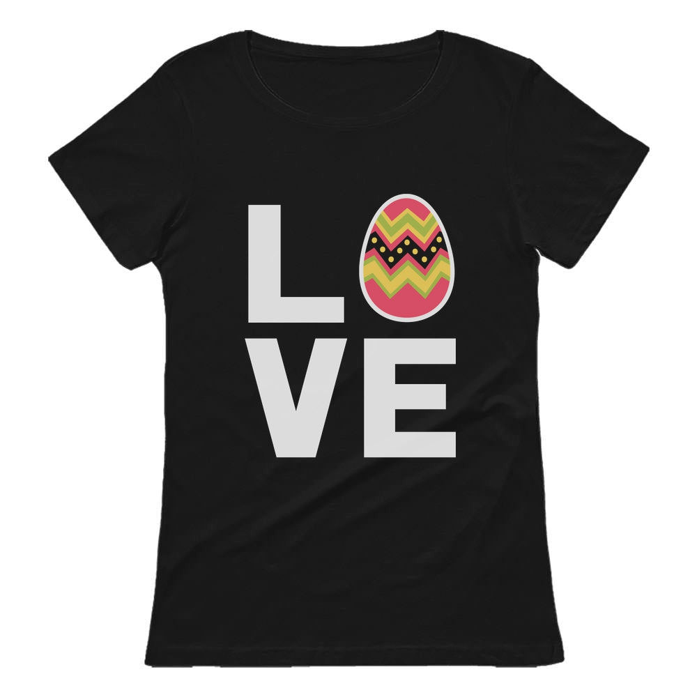 I Love Easter Cute Decorated Egg Women T-Shirt - Black