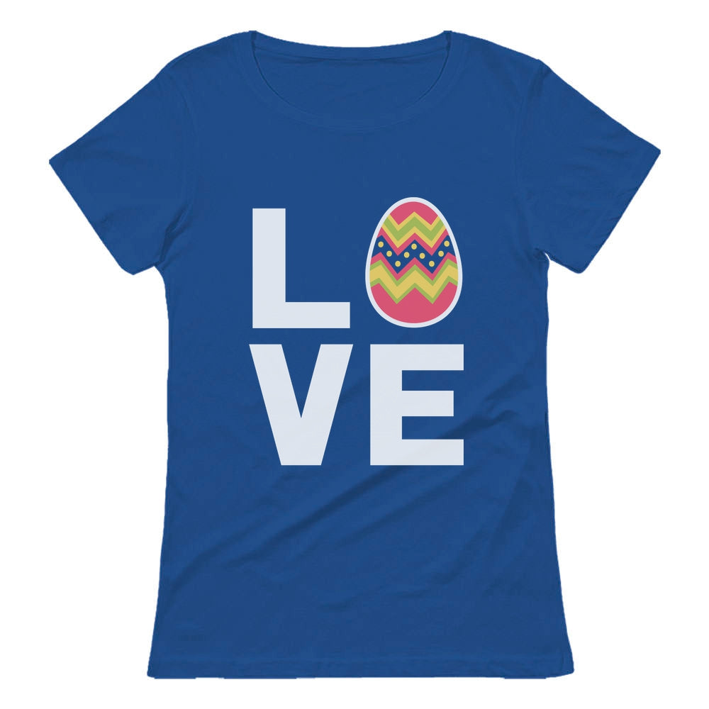 I Love Easter Cute Decorated Egg Women T-Shirt - Blue