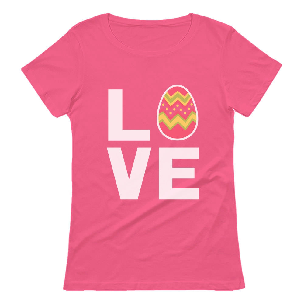 I Love Easter Cute Decorated Egg Women T-Shirt - Pink