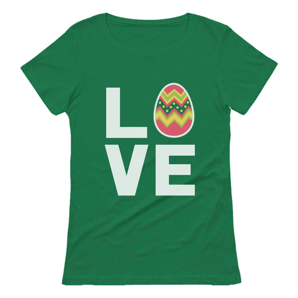I Love Easter Cute Decorated Egg Women T-Shirt - Green