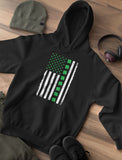 Thumbnail Irish Clover American Flag Hoodie Orange