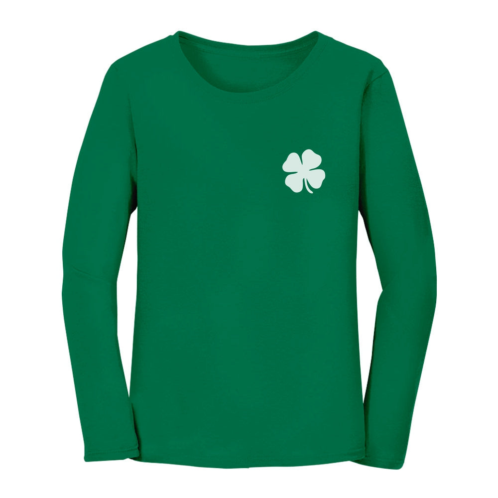Pocket Size Clover Women Long Sleeve T-Shirt