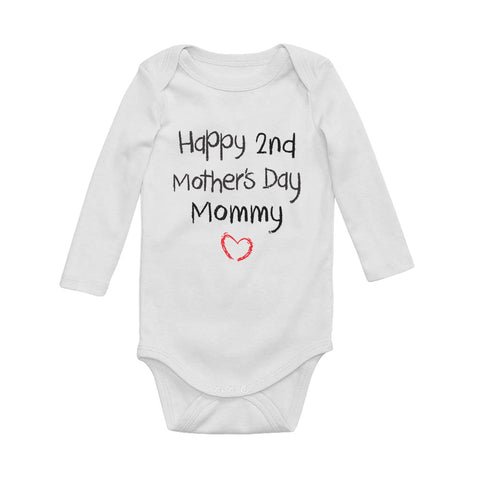 Tstars tshirts Happy Second Mothers day Baby Long Sleeve Bodysuit