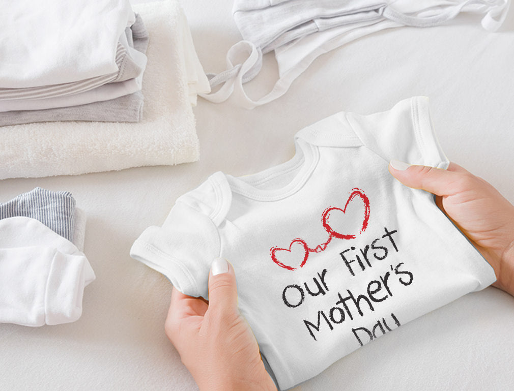 Our First Mother's Day Baby Bodysuit
