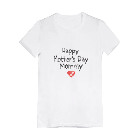 Tstars tshirts Happy Mother's Day Mommy Toddler Kids Girls' Fitted T-Shirt