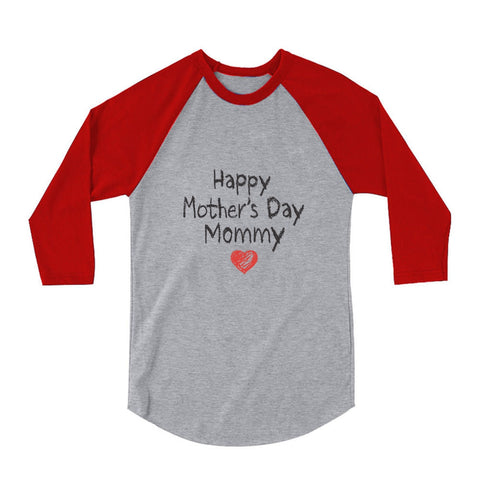Tstars tshirts Happy Mother's Day Mommy 3/4 Sleeve Baseball Jersey Toddler Shirt