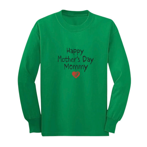 Tstars tshirts Happy Mother's Day Mommy Youth Kids Long Sleeve T-Shirt