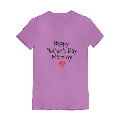 Tstars tshirts Happy Mother's Day Mommy Infant Girls' Fitted T-Shirt
