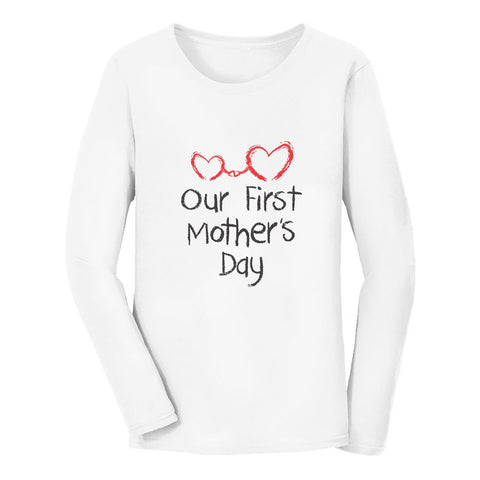 Tstars tshirts Our First Mother's Day Women Long Sleeve T-Shirt