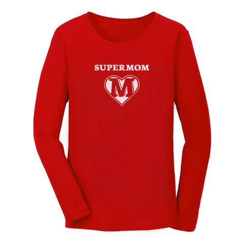 Tstars tshirts Super Mom Women Long Sleeve T-Shirt