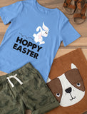 Hoppy Easter Bunny Cute Rabbit Youth Kids T-Shirt