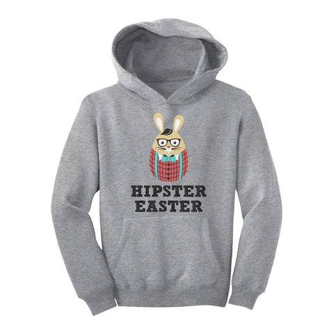 Tstars tshirts Hipster Easter Bunny Youth Hoodie