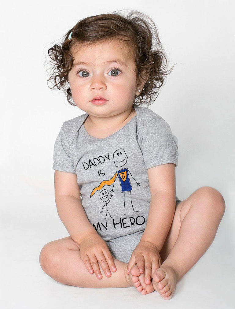 Daddy Is My Hero Baby Bodysuit