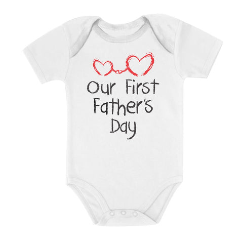 Tstars tshirts Our First Father's Day Baby Bodysuit
