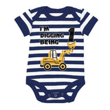 Digging being 1 - 1st Birthday Baby Bodysuit