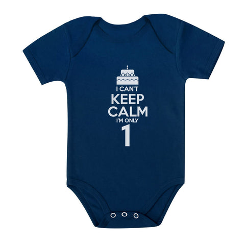 Tstars tshirts I Can't Keep Calm I'm one Baby Bodysuit