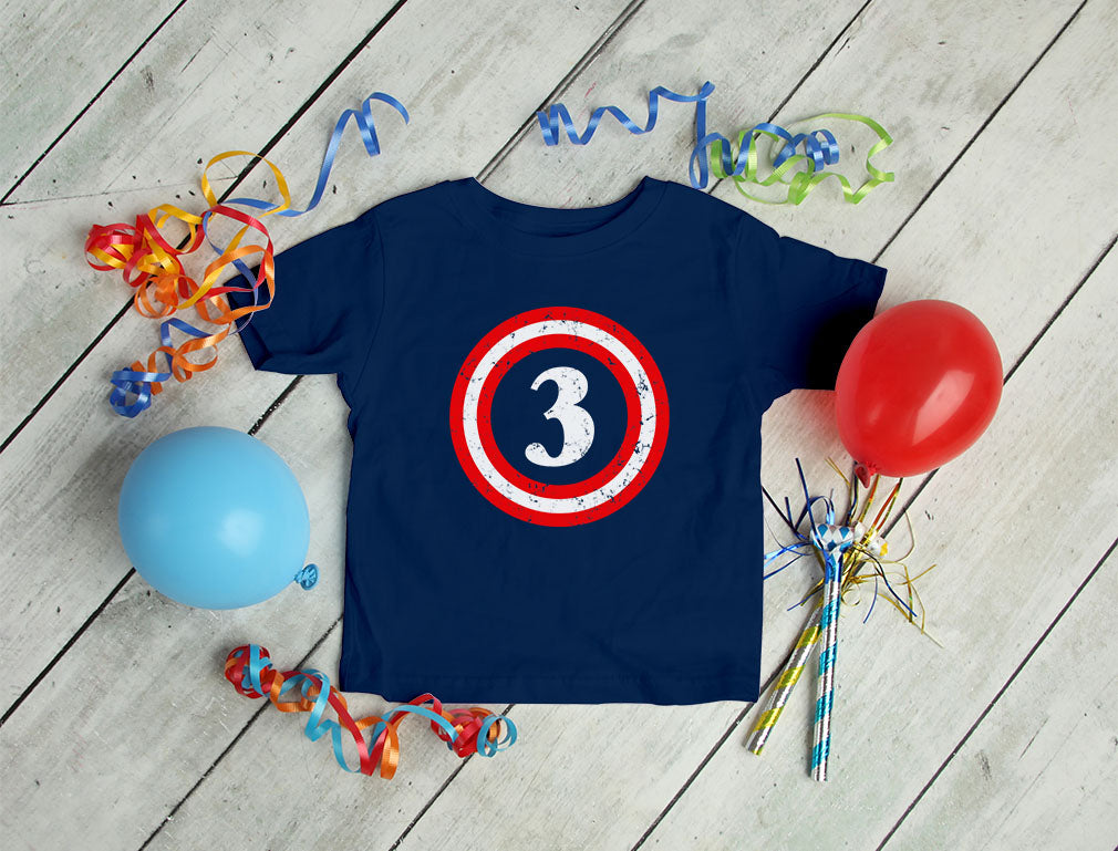 Captain 3rd Birthday Toddler Kids T-Shirt