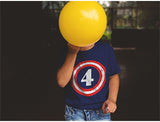 Captain 4th Birthday Toddler Kids T-Shirt