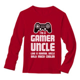 Gamer Uncle Video Games Best Uncle Novelty Gift Long Sleeve T-Shirt