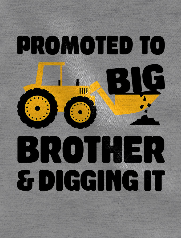 Promoted to Big Brother Digging It Gift 3/4 Sleeve Baseball Jersey Toddler Shirt