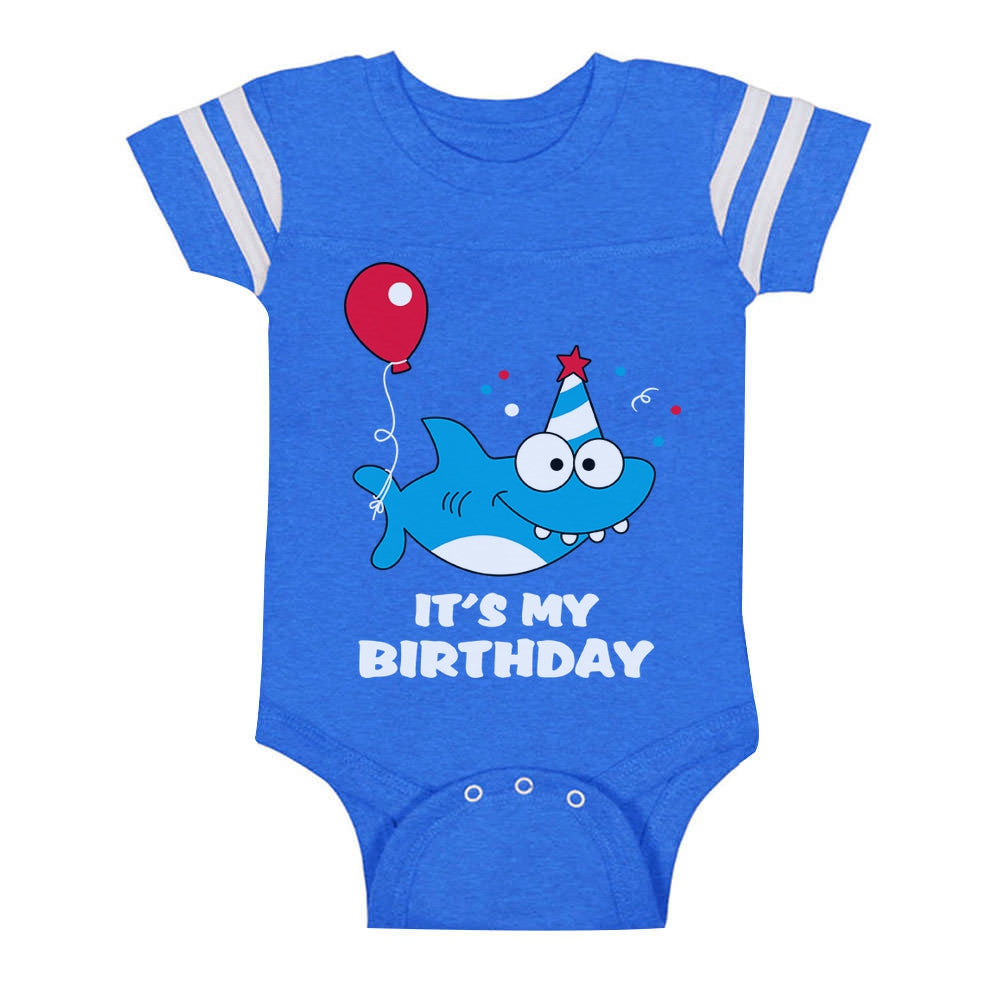 Birthday Boy or Girl Shark Outfit 1st 2nd Birthday Gift Baby Jersey Bodysuit