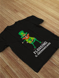 Thumb Flossing & Shenanigans Leprechaun Funny St. Patrick's Youth Kids T-Shirt