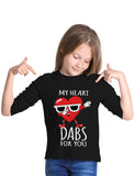 Thumbnail My Heart Dabs for You Funny Valentine's Day Youth Kids Long Sleeve T-Shirt