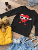 Dabbing Heart Valentine's Day Love Dab Toddler Long sleeve T-Shirt