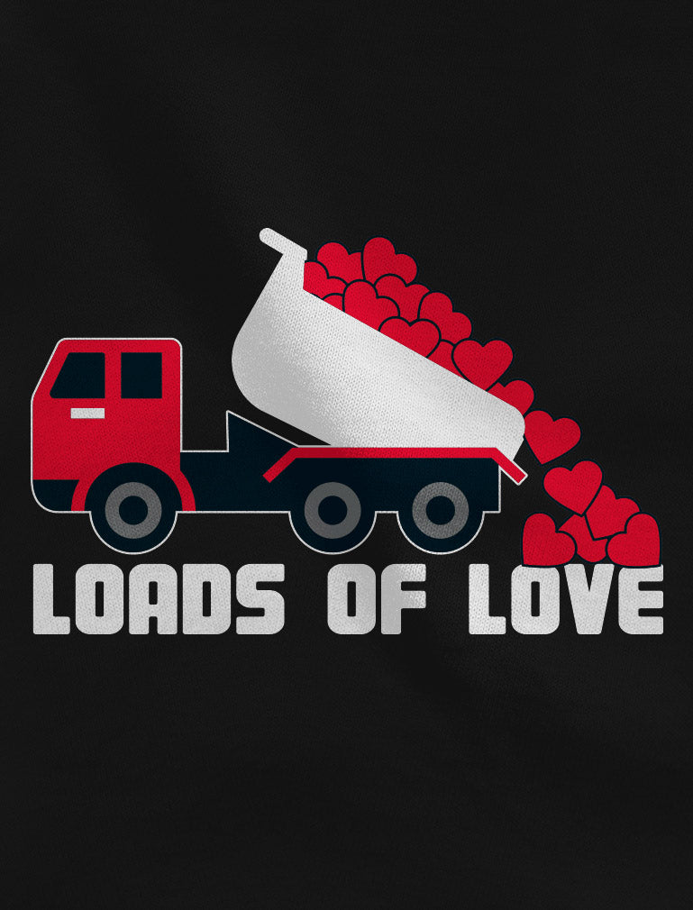 First Valentine's Day Loads of Love Dump Truck Infant Kids T-Shirt