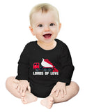 First Valentine's Day Loads of Love Dump Truck Baby Long Sleeve Bodysuit