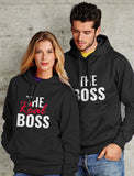The Boss & The Real Boss Funny Valentine's Day Couple Matching Hoodies Gift Set