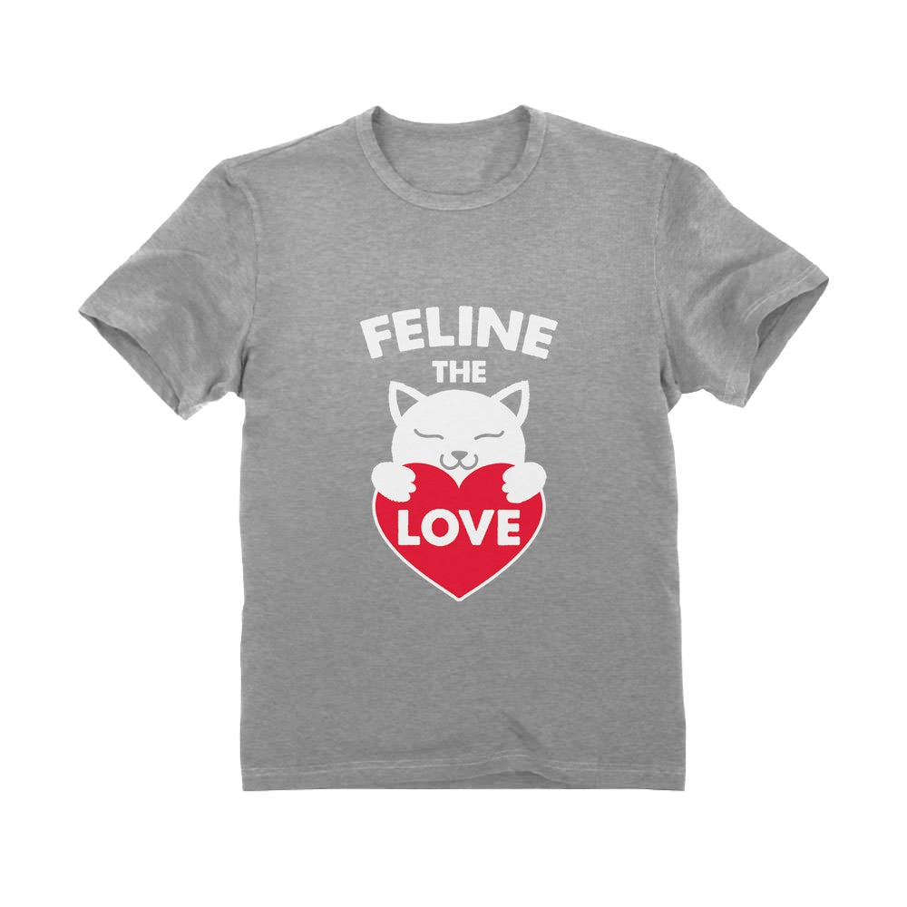 Feline The Love Valentine's Day Gift for Cat Lovers Infant Kids T-Shirt