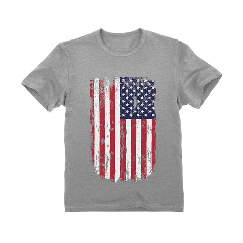 Tstars tshirts USA Vintage Flag 4th of July Patriotic Toddler Kids T-Shirt