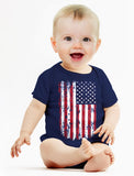 USA Vintage Flag Baby Bodysuit
